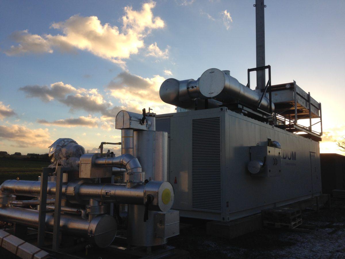 Ochain: biogasinstallatie voor WKK aangekomen