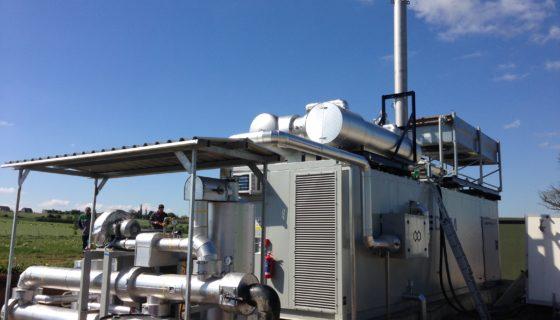 De biogas-warmtekrachtkoppelingseenheid van Ochain is in werking!