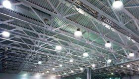 Relamping LED de l'atelier de production de la société Sulzer à Thimister-Clermont.