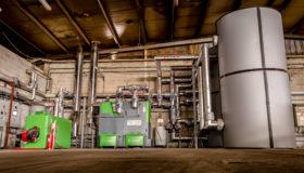 Installation d'une chaudière biomasse aux Ateliers du Saupont