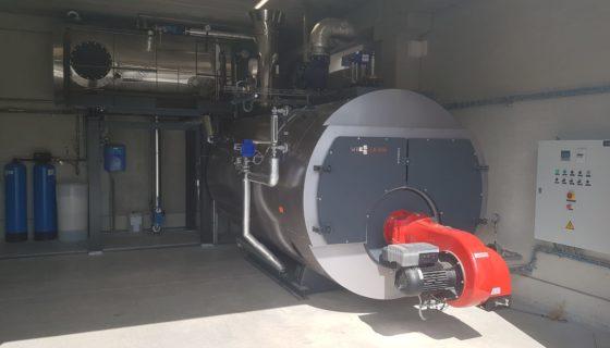 Installation d'une chaudière au gaz naturel à la Brasserie du Val de Sambre