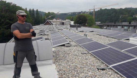 Fotovoltaïsche installatie voor DFM Immo