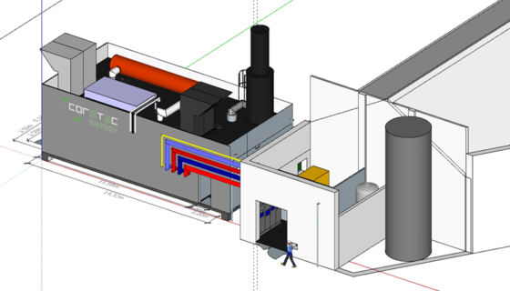 Financement, installation, exploitation & maintenance d'un cogénération chez Corman