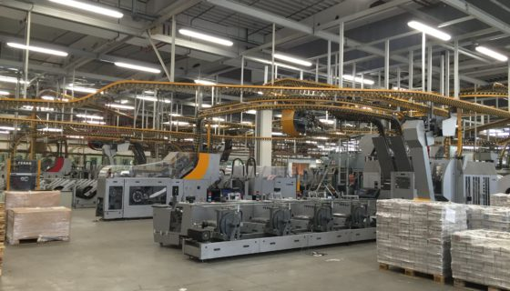 LED Relighting bij Rossel Printing